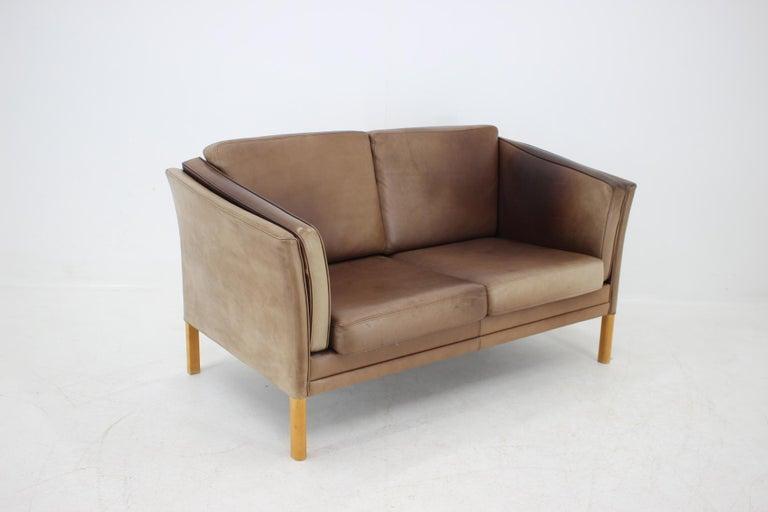 Mid-20th Century 1960 Danish 2-Seat Leather Sofa For Sale
