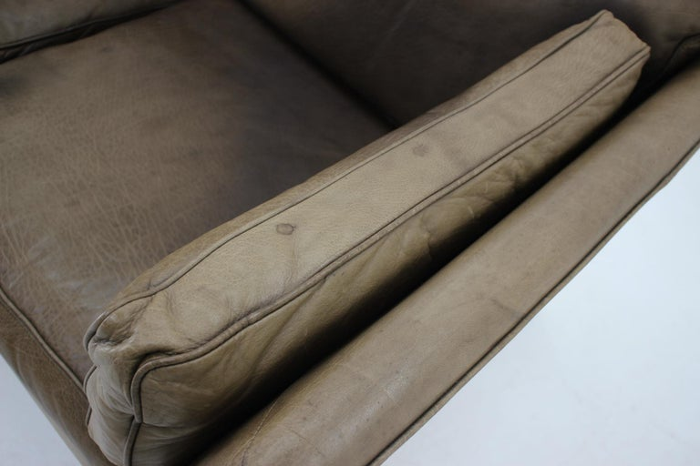 Mid-20th Century 1960 Danish 2-Seat Leather Sofa For Sale