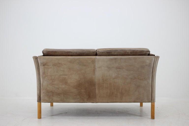 1960 Danish 2-Seat Leather Sofa For Sale 4