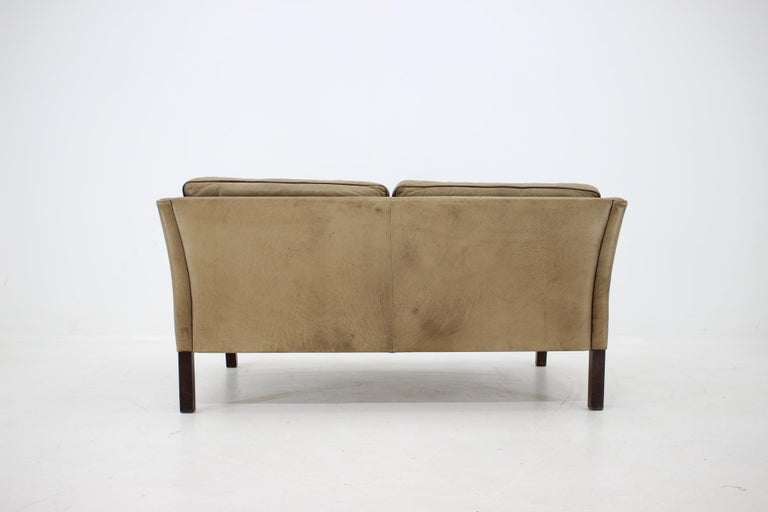 1960 Danish 2-Seat Leather Sofa For Sale 4