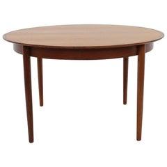 1960 Danish Teak Extendable Table, Denmark