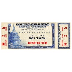 1960 Democratic National Convention Floor Ticket, John F. Kennedy Nomination