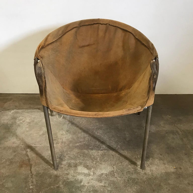 Metal 1960, Erik Ole Jørgensen by Movirke, Denmark, Chair Model BO 360 For Sale