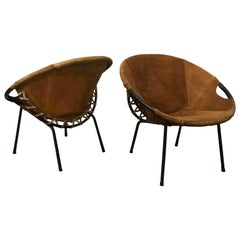 1960, Erik Ole Jørgensen by Movirke Denmark, Very Rare Set Circle/Balloon Chairs