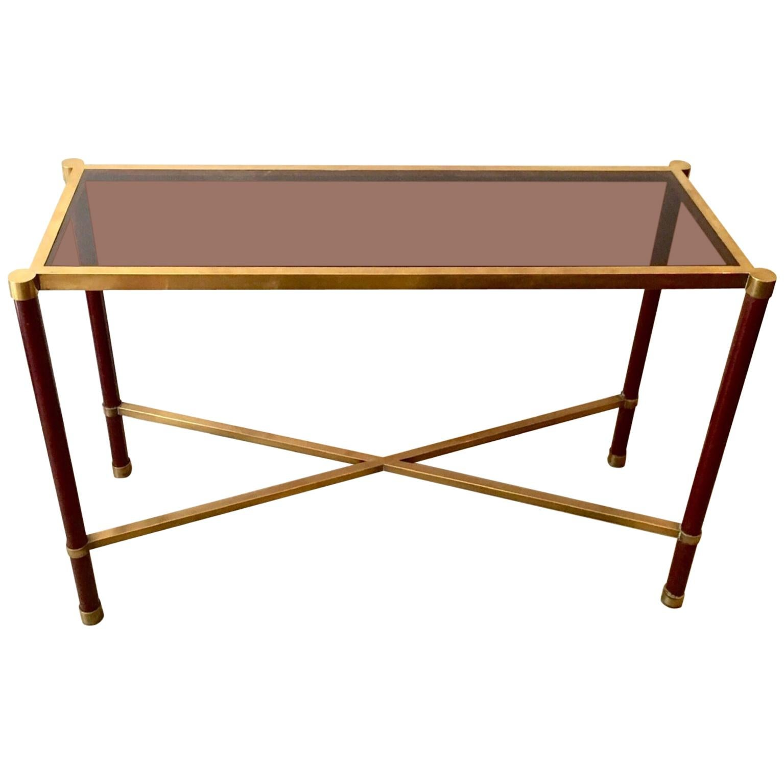 1960 French Guy Lefevre Metal Lacquered Console