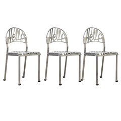1960, Jeremy Harvey, Three 'Hello There' Chairs, Chrome-Plated