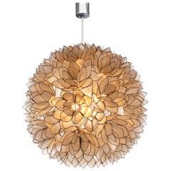 1960 Large Lotus Ball Chandelier Pendant Light