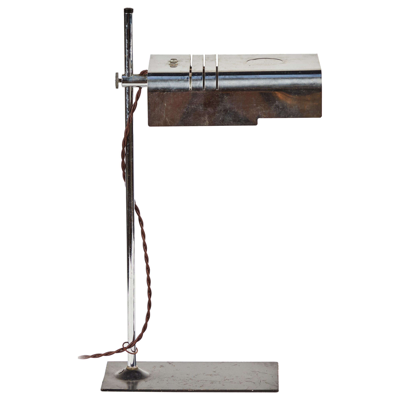 Mid Century Modern Adjustable Chrome Desk Lamp