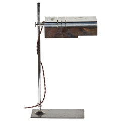 1960 Mid-Century Modern Adjustable Chrome Desk Lamp