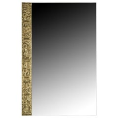 1960 Mirror Signed by Angelo Brotto in Gilt Bronze