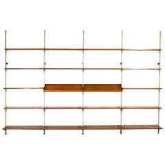 1960 Modular by Olof Pira String Shelving System Room Divider Wall Unit Library