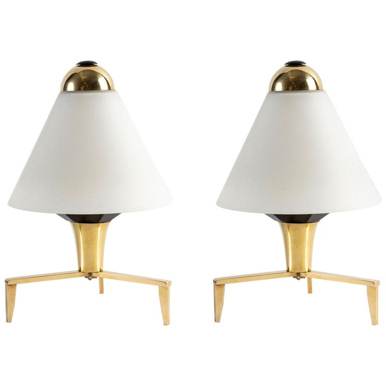 1960 Pair of Wall Lights Inspired by the Lily of the Valley Flower by Stilnovo