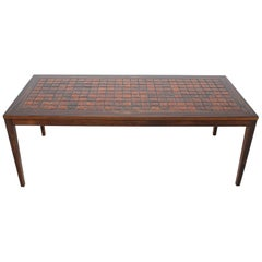 1960 Palisander and Tile Coffee Table, Denmark