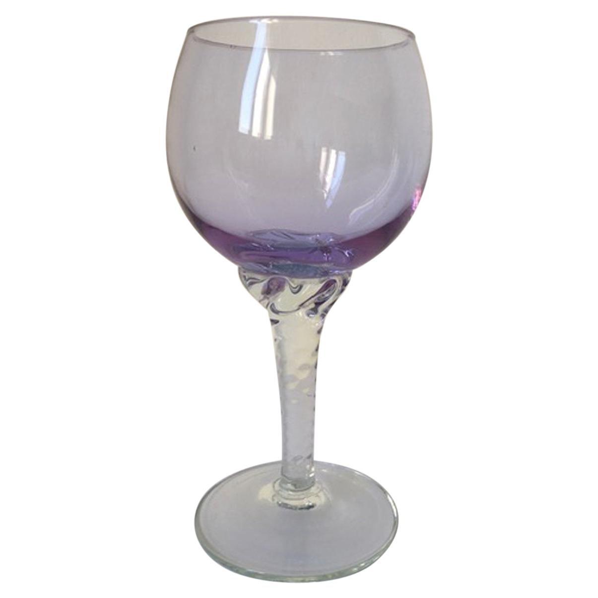 1960, Post-Modern Murano Blown Glass Goblet
