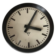 1960 Pragotron Industrial Wall Clock, Czechoslovak