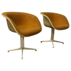 1960, Ray and Charles Eames, Original La Fonda Chairs by Miller in First Fabric