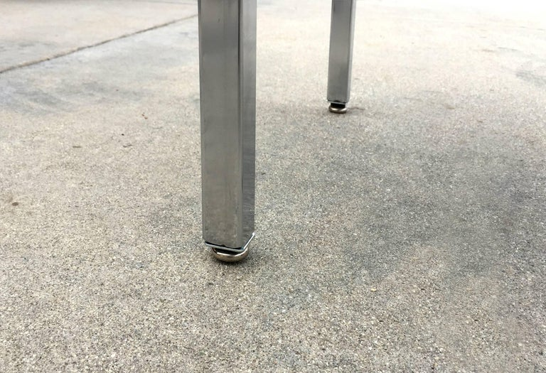 Powder-Coated 1960 Retro Stainless Steel Cart, Refinished For Sale