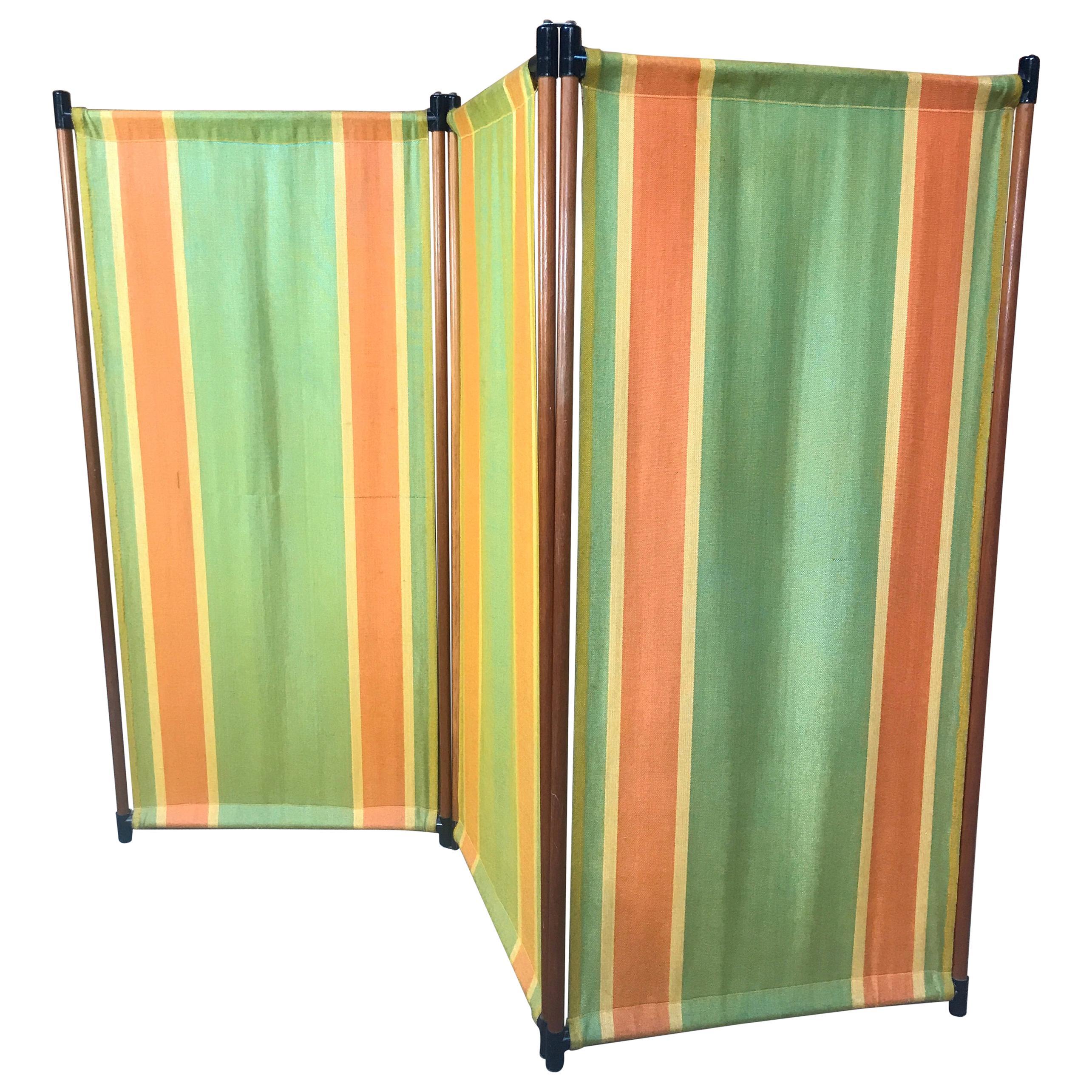 1960 Retro Vintage Fabric screen / Room Divider