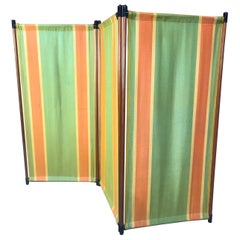 1960 Retro Vintage Fabric screen / Room Divider