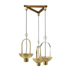 1960's Composition of Three Lanterns by Jordi Vilanova, Spain, Barcelona
