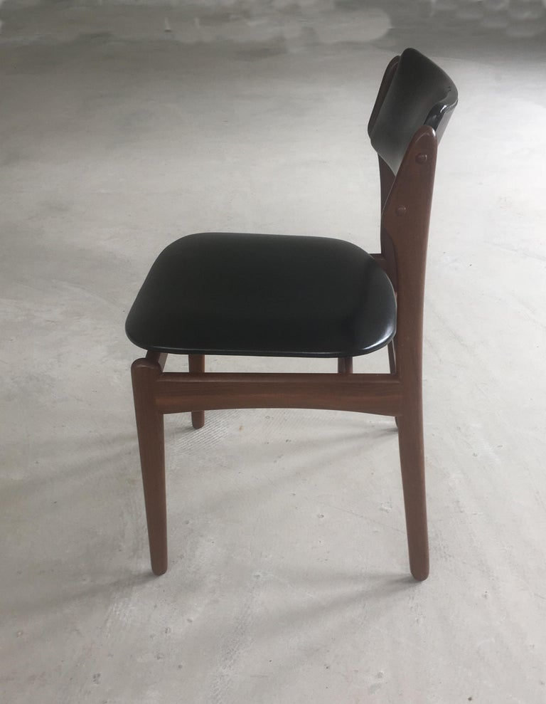 Danish 1960s Erik Buch Teak Dining Chairs Inc. Reupholstery For Sale
