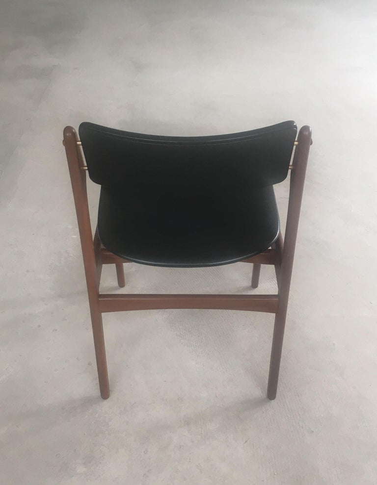 Mid-20th Century 1960s Erik Buch Teak Dining Chairs Inc. Reupholstery For Sale
