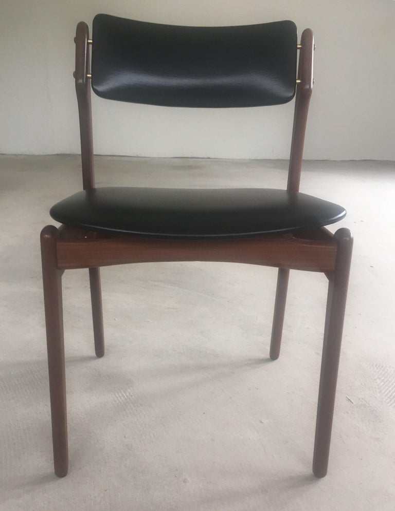1960s Erik Buch Teak Dining Chairs Inc. Reupholstery For Sale 1