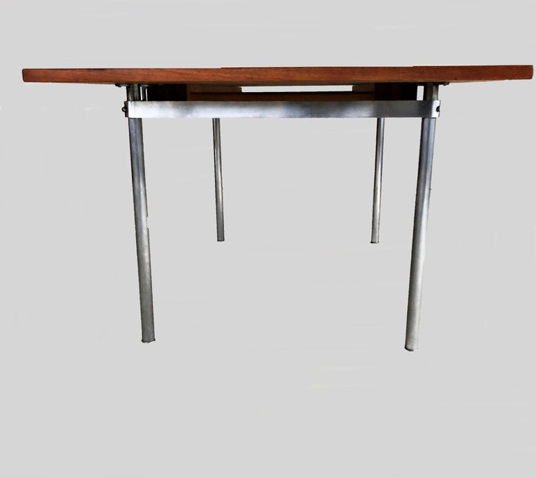 Adam Style 1960s Hans Wegner Refinished Extension Dining Table in Teak by Andreas Tuck For Sale