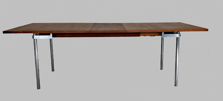 1960s Hans Wegner Refinished Extension Dining Table in Teak by Andreas Tuck In Good Condition For Sale In Knebel, DK