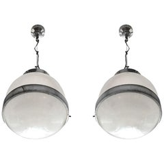 """1960s Pair of """"Delta"""" Lanterns by Sergio Mazza for Artemide, Italy"""