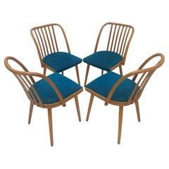 1960 Set of 4 Design Retro Chair, Antonín Šuman for Ton, Czechoslovakia