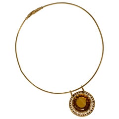 1960 Sigurd Persson Citrine and Gold Necklace