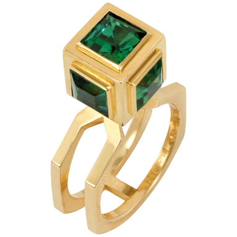 1960 Sigurd Persson Green Tourmaline Ring For Sale