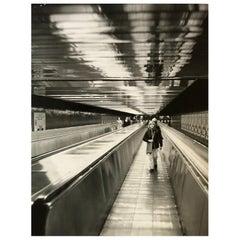 1960, Tapis Roulant, Station Montparnasse, Paris, Jean Ribière
