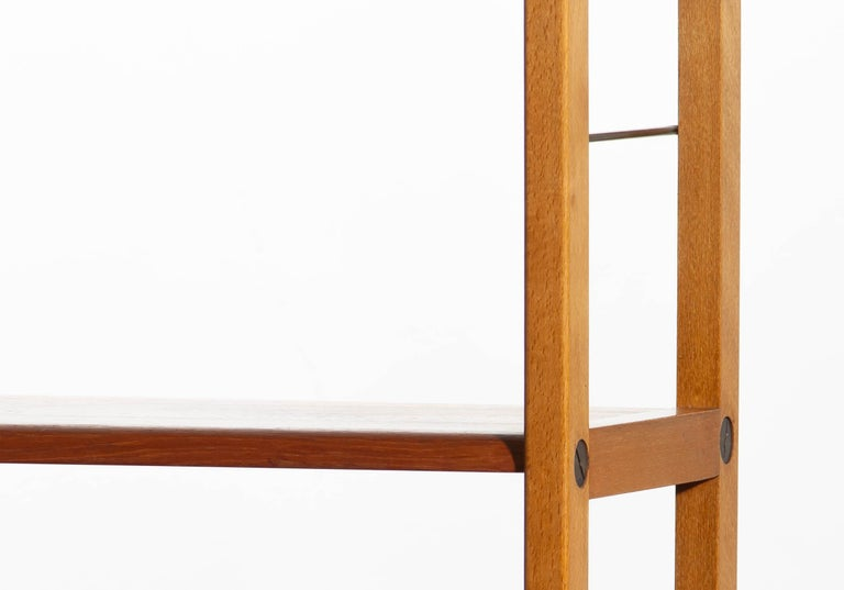 1960, Teak, Brass and Beech Bookcase by Bertil Fridhagen for Bodafors, Sweden For Sale 8