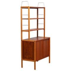 1960, Teak / Oak and Brass Bookcase by Bertil Fridhagen for Bodafors, Sweden