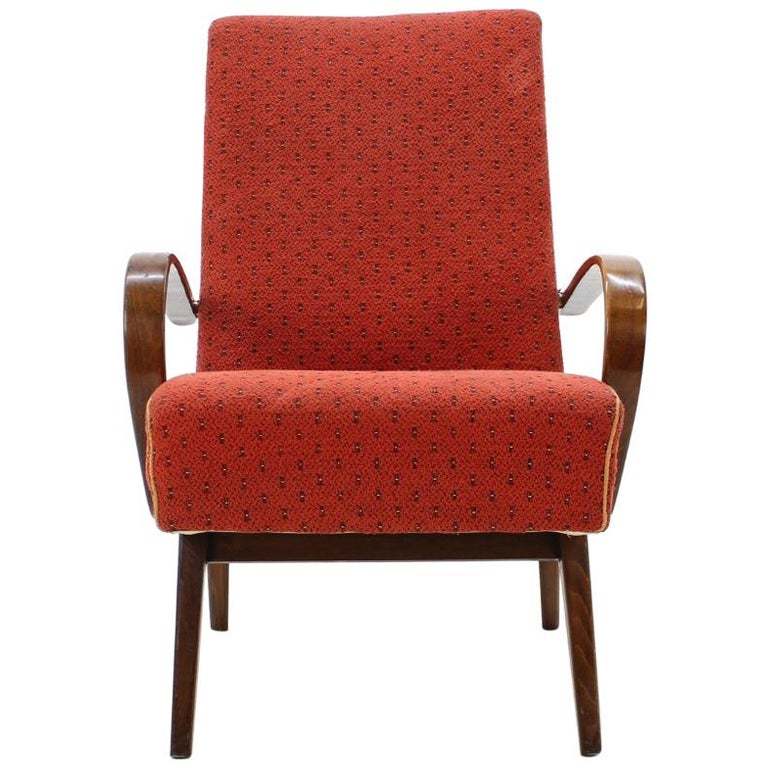 1960 Thon or Thonet Bentwood Lounge Chair For Sale