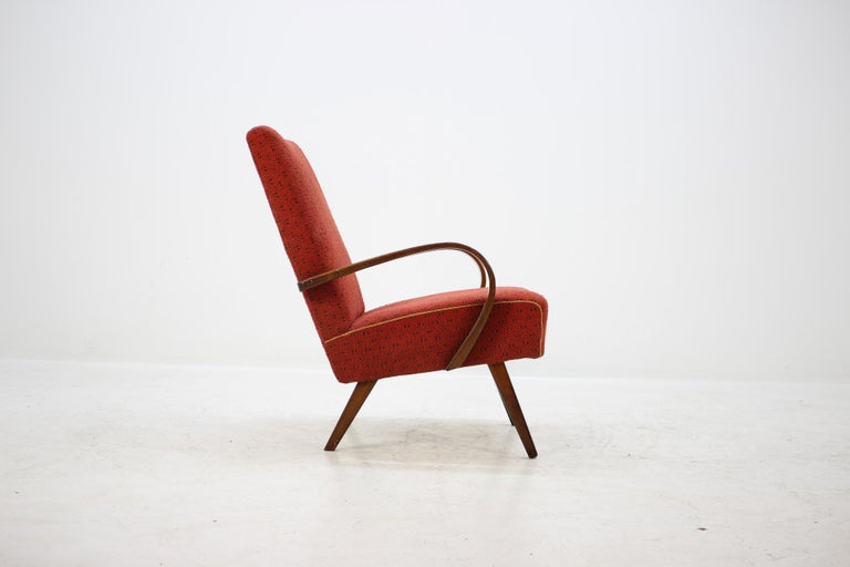 Mid-Century Modern 1960 Thon or Thonet Bentwood Lounge Chair For Sale