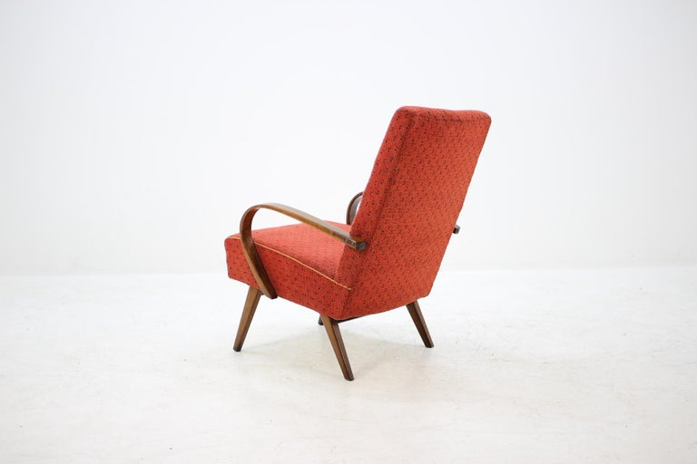 1960 Thon or Thonet Bentwood Lounge Chair In Good Condition For Sale In Barcelona, ES