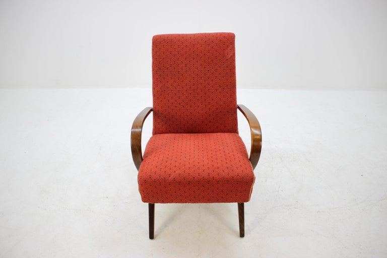 Mid-20th Century 1960 Thon or Thonet Bentwood Lounge Chair For Sale