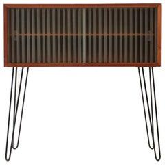 1960 Upcycled Midcentury Danish Teak/Glass Cabinet