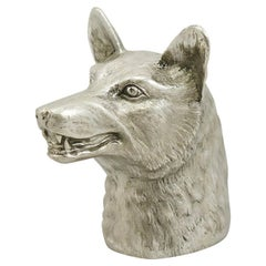 1960 Vintage Sterling Silver 'Fox' Lighter