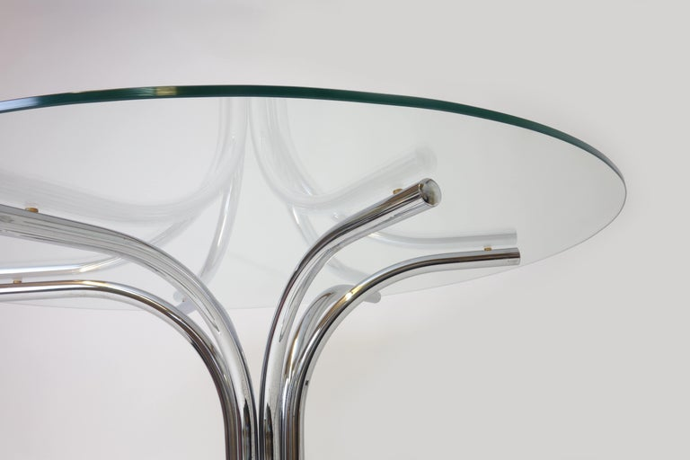 Glass 1960s Italian Dining Table For Sale
