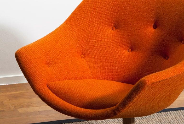 1960s, 1 'Mandarini' Swivel Armchair by Carl Gustaf Hiort and Nanna Ditzel For Sale 4
