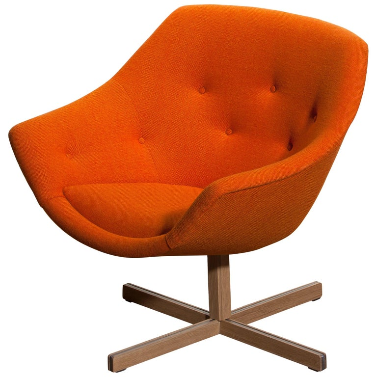1960s, 1 'Mandarini' Swivel Armchair by Carl Gustaf Hiort and Nanna Ditzel For Sale 6