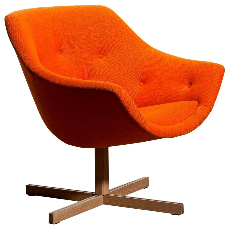 1960s, 1 'Mandarini' Swivel Armchair by Carl Gustaf Hiort and Nanna Ditzel For Sale 7