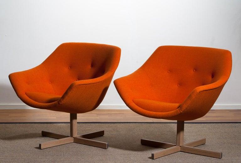 1960s, 1 'Mandarini' Swivel Armchair by Carl Gustaf Hiort and Nanna Ditzel 8