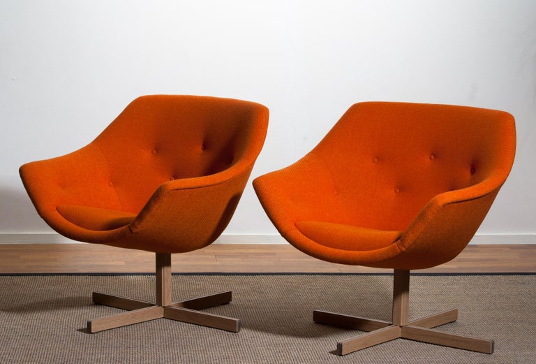 1960s, 1 'Mandarini' Swivel Armchair by Carl Gustaf Hiort and Nanna Ditzel For Sale 8