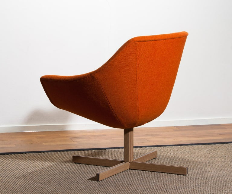Fabric 1960s, 1 'Mandarini' Swivel Armchair by Carl Gustaf Hiort and Nanna Ditzel For Sale