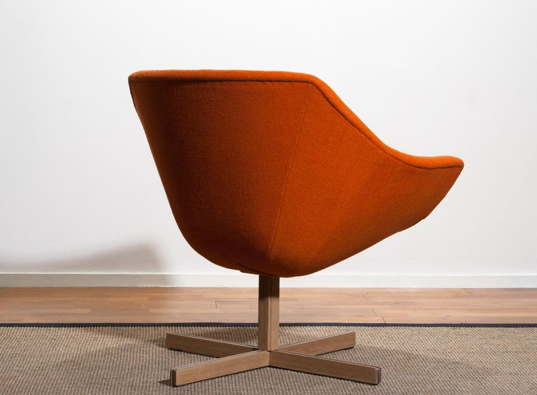 1960s, 1 'Mandarini' Swivel Armchair by Carl Gustaf Hiort and Nanna Ditzel For Sale 1